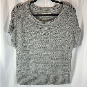 Loft Gray Short Sleeve Sweater
